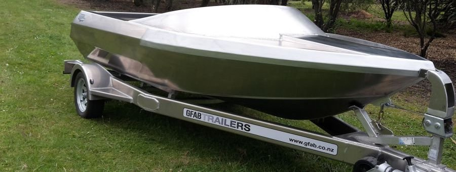 GFab alloy 4100 Jetboat and trailer