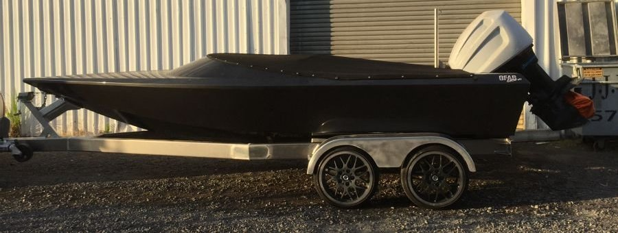 GFAB alloy 5800 Skiboat and trailer
