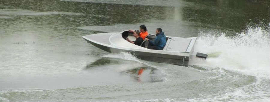 4.0m Alloy Jetboat - powered by Honda Aquatrax jetski