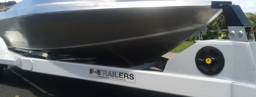 GFAB alloy 4600 Jetboat hull and custom built trailer to suit